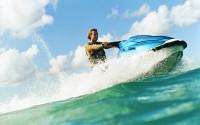 Man Riding a Jet Ski