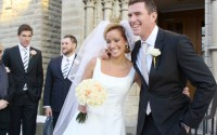 Nygifta Louise Johansson och Maxwell Graham