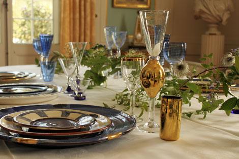 Tallrikar och glas från Baccanalservis