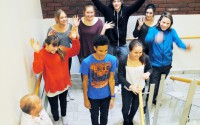 Elever i dansmatte