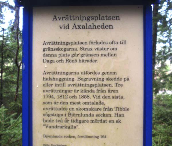 Mitt Sörmland - Axalahedens avrättningsplats