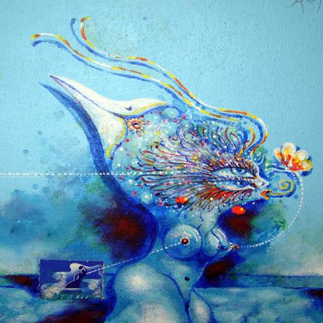 Mitt Sörmland - Blue bird woman
