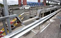 Trafikverket Södertäljebron, reparation och återställning efter olycka med lastbil